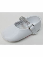Infant Girls White Shoe w/ Rhinestone Strap