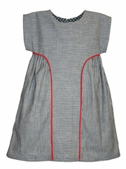 Isabel Garretón Contemporary Cut Stripes Dress