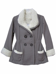Isobella & Chloe Madison Gray Elastic Waist Jacket