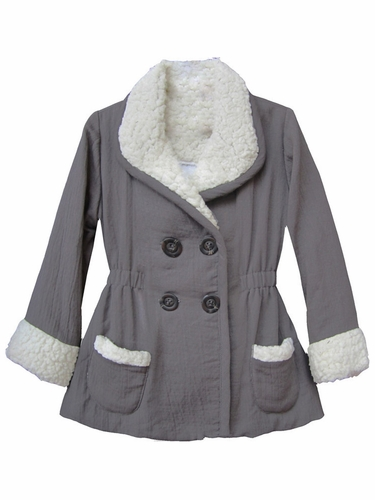 Isobella & Chloe Madison Grey Elastic Waist Jacket