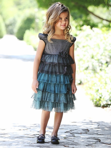 Isobella & Chloe Neverland Black Tiered Sequins Dress