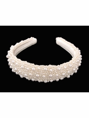 Ivory Bridal/Communion Headband w/Pearls