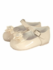 Ivory Dinkie Infant Patent Leather Girls Shoes
