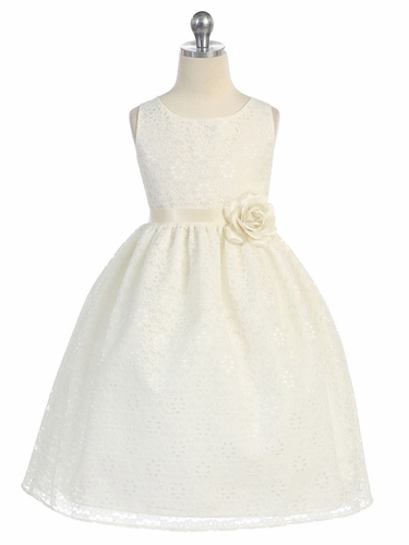 Ivory floral lace dress mightylinksfo