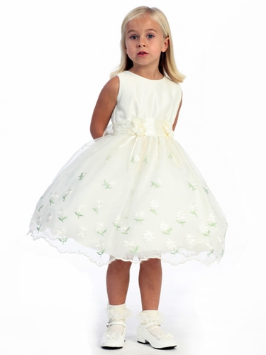 Ivory Flower Girl Dress - Daisy Dress
