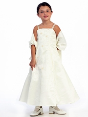 Ivory Flower Girl Dress - Matte Satin A-Line