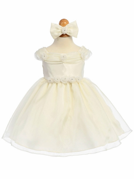 ... Flower Girl Dress - Shiny Organza Rosebud Dress. Click to Enlarge Click to Enlarge ...