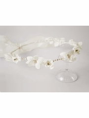 Ivory Flower Halo w/ Pearl Headband