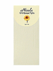 Ivory Girls Nylon Opaque Tights