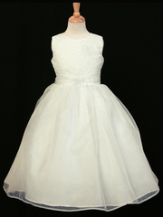 CLEARANCE - Ivory Glitter Bodice Dress