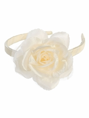 Ivory Headband w/ Large Rose
