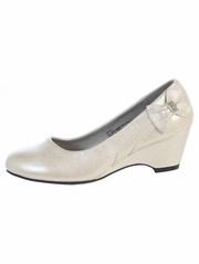Ivory Kids Wedge Shoe