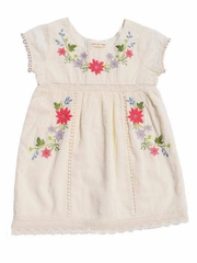 Mimi & Maggie Ivory Botanical Gardens Collection Spring Flowers Dress