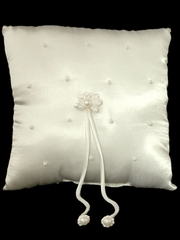 Ivory Pearl Ring Bearer Pillow
