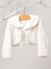 Ivory Ribbon Fur Jacket
