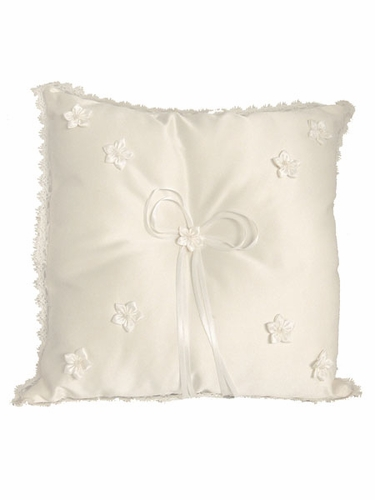 Ivory Rosebud Ring Bearer Pillow