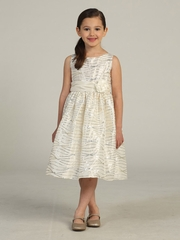 Ivory Streamer Sequin Taffeta Dress