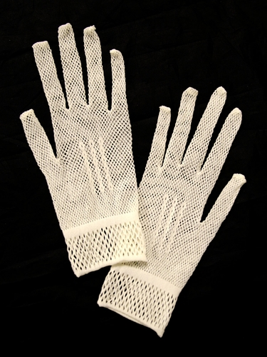 Ivory Stretch Lace Gloves