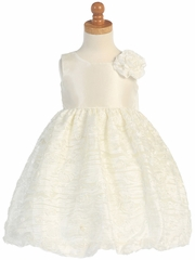 Ivory Taffeta Bodice w/ Embroidered Tulle Dress