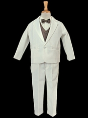Ivory Tuxedo w/ Any Color Vest & Clip-On Bowtie