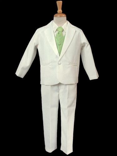 Ivory Tuxedo w/ Any Color Vest & Clip-On Necktie