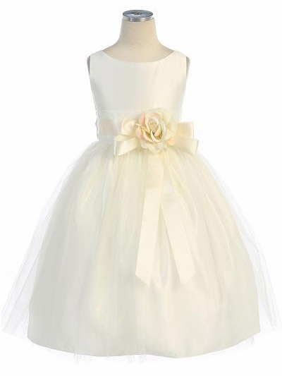 Flower girl dresses pinkprincess ivory vintage satin tulle dress mightylinksfo