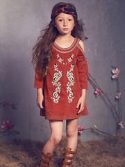 Jak & Peppar Berry Boho Jane Dress