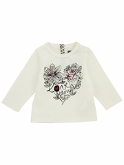 Jean Bourget Ivory Print T-Shirt