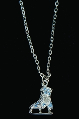 Jerry's 1280 Blue Crystal Skate Necklace