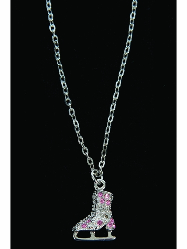 Jerry's 1280 Pink Crystal Skate Necklace