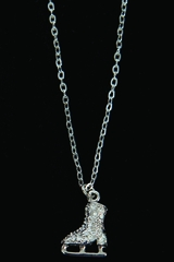 Jerry's 1280 Silver Crystal Skate Necklace