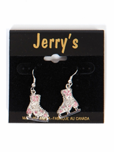 Jerry's 1281 Pink Crystal Skate Earrings