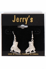 Jerry's 1281 Silver Crystal Skate Earrings