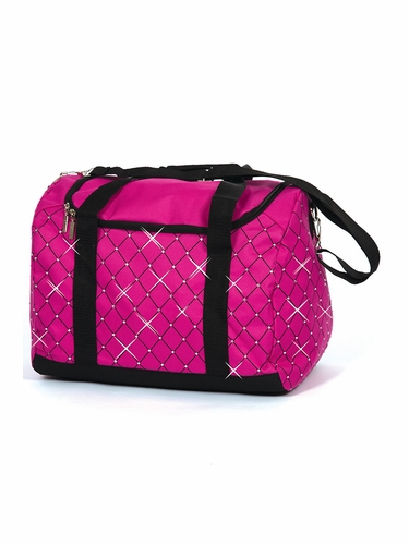 Jerry's 5050 Fuchsia Diamond Crystal Carry All Skate Bag