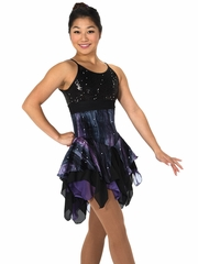 CLEARANCE - Jerry's 102 Black / Purple Smoke & Mirrors Dress