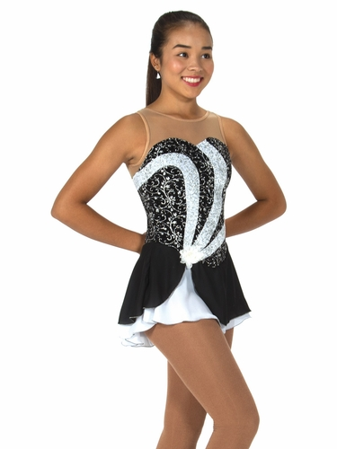 Jerry's 80 Black & White Side Swirl Dress