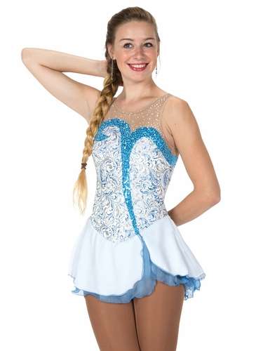 Jerry's 90 Blue Snow Struck Dress