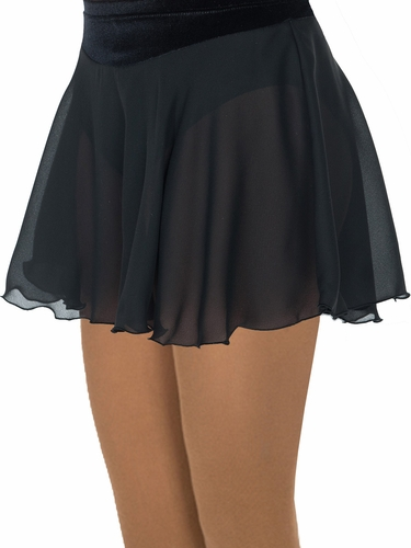 Jerry's Classic Black Georgette Skirt