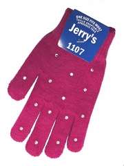 Jerry's 1107 Fuchsia Crystal Mini Gloves