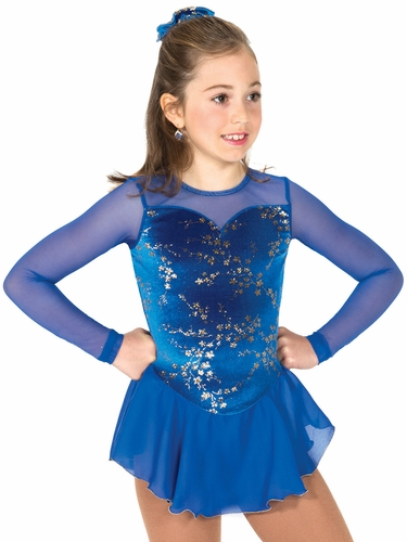 Jerry's Gold Blossom Royal Blue Dress