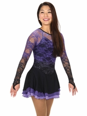 Jerry's Purple Cascade Lace Dress