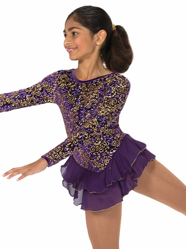Jerry's Purple & Gold Scrolls Dress