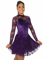 Jerry's 122 Purple Lady in Lace Dance Dress