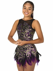 Jerry's 87 Purple / Lime Cast A Spell Dress
