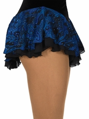 Jerry's Royal Blue Double Georgette Jacquard Print Skirt
