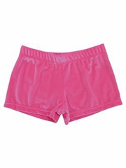 K-Bee Leotards Bubble Gum Velvet Micro Mini Shorts