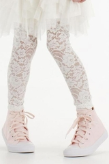 Kate Mack Gateau Ivory Lace Leggings