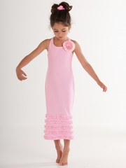 Kate Mack Pink Dottie Daisy Maxi Dress