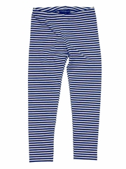 Kate Mack �Poodle In Paris� Stripe Legging in Navy