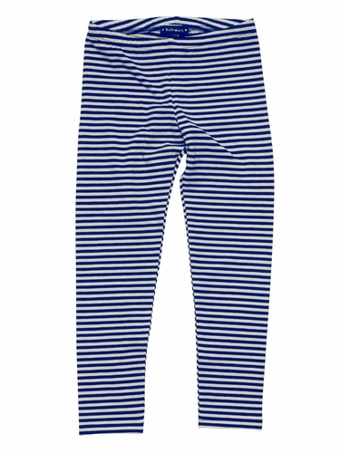 "Kate Mack ""Poodle In Paris"" Stripe Legging in Navy"